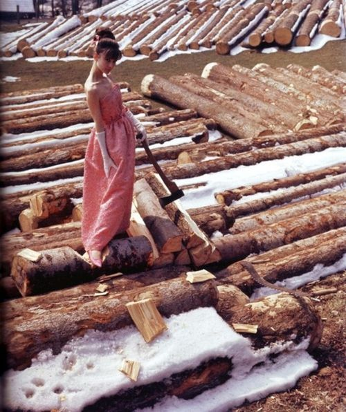 Audrey choppingwood