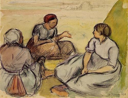 Peasants Camille Pissarro