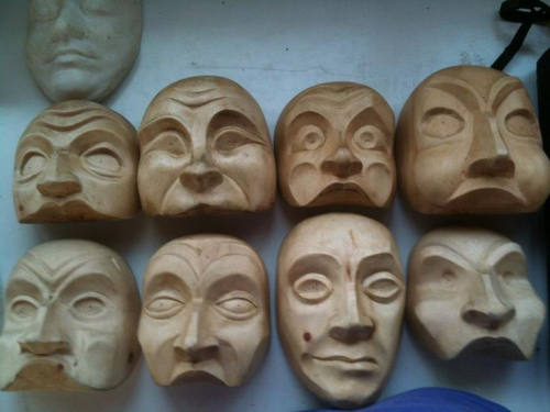 Donato Satori Masks Carved