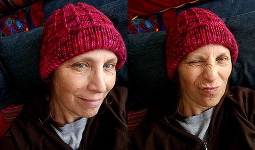 Cranberry Hat x 2