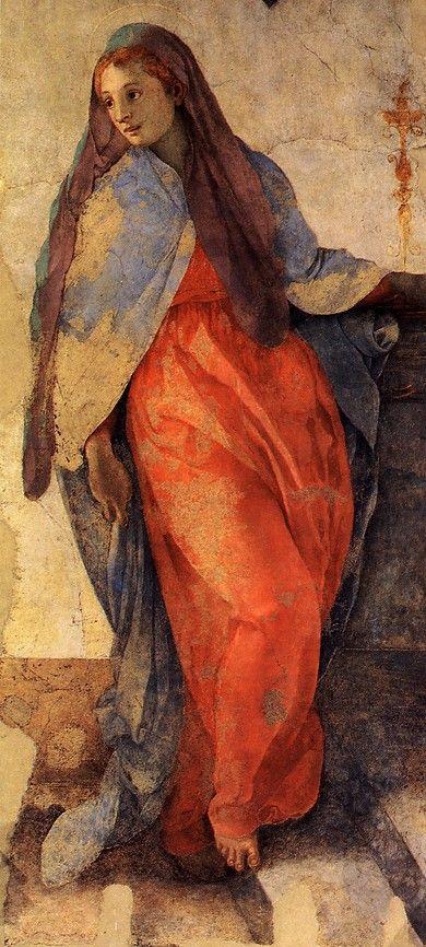 PONTORMO 1525-28 Annunciazione della Vergine Santa Felicita, Cappella Capponi Florence
