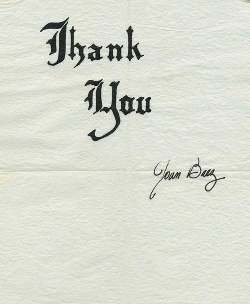 Joan Baez ThankYou