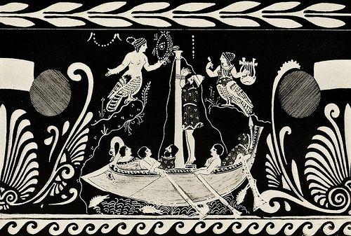 Sirens as Birds Archaic Greek Vase 340 BCE
