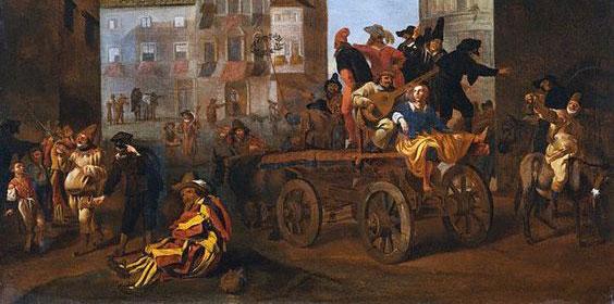 Jan-Meil -1600s-Traveling-Commedians