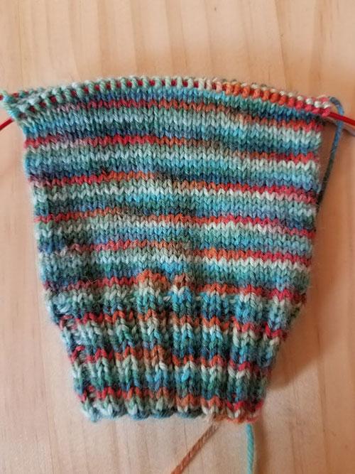 BlueRedStrip-Sock