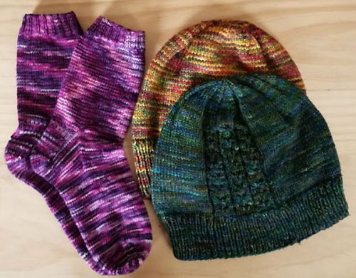 Knitted hats and socks