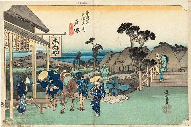 Hiroshige-53-Stations-Hoeido-06-Totsuka-MFA-01_670