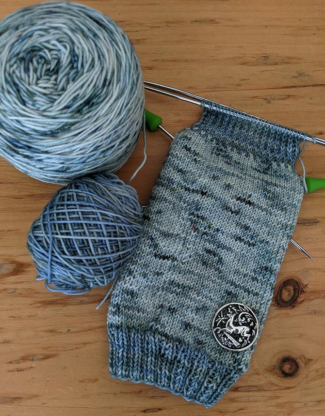 Plucky Knitter Blue Socks6790