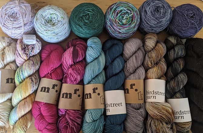 Lots of Birdstreet Yarn To Knit