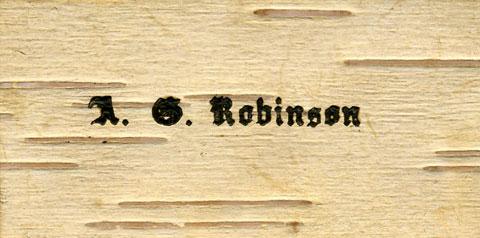 A. G. Robinson