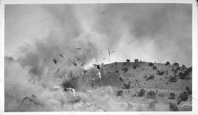 House Exploding, Madrid NM circa 1920s