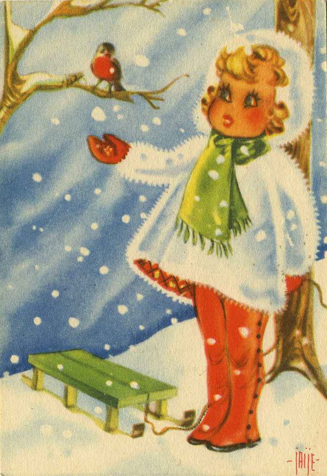 Vintage Swedish Christmas Postcards.