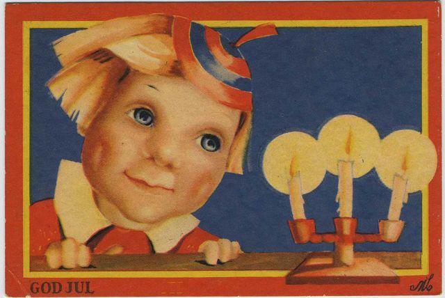 Vintage Swedish Christmas Postcards