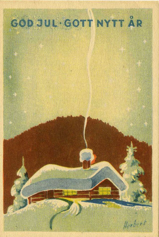 Vintage Swedish Christmas Postcards