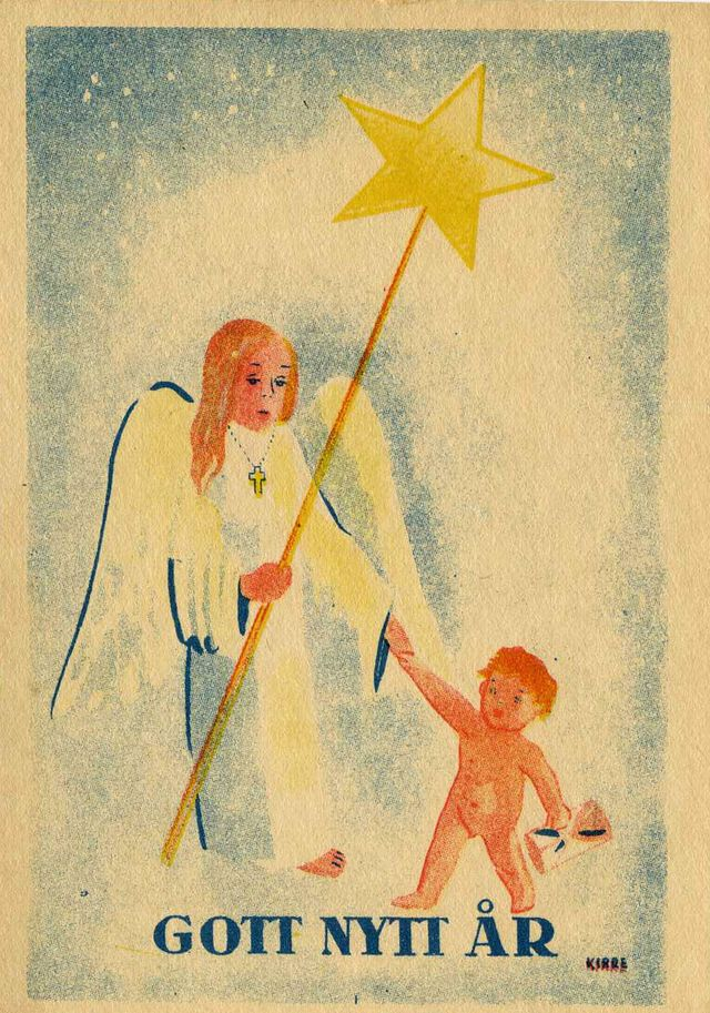 Swedish God Jul Cards: Vintage Swedish Christmas Postcards