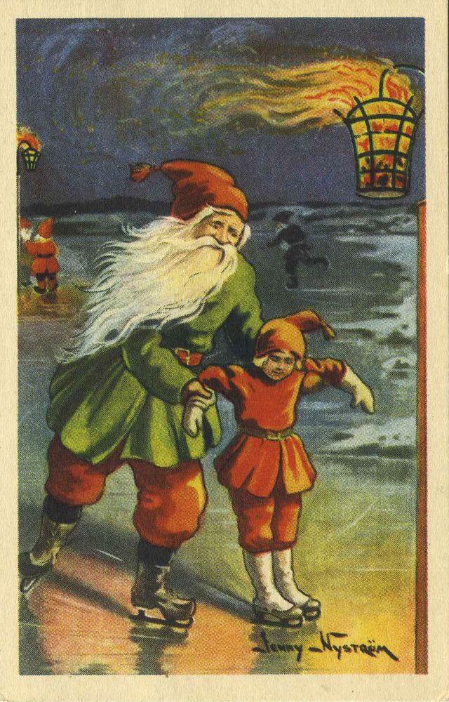 Swedish God Jul Cards A Vintage Swedish Christmas Card